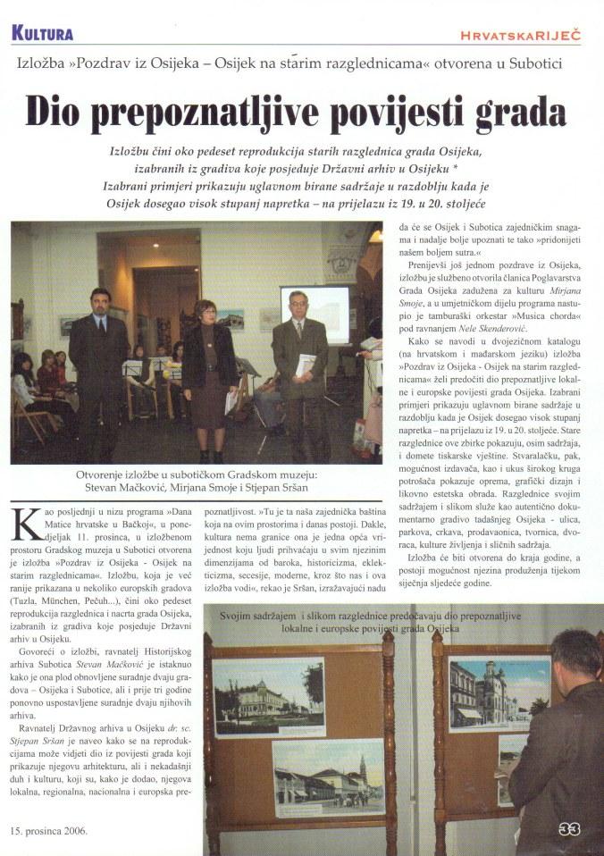 HR 15 11 2006 izlozba Osijek